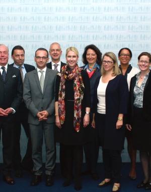 Arbeitstreffen mit Ministerin M.Schwesig und Minister H.Maas zu mehr Diversität und Frauen in Führungspositionen, Berlin 2014