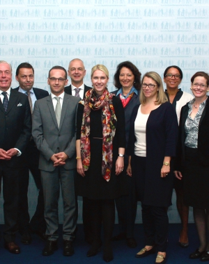 Meeting with Minister M.Schwesig and Minister H.Maas on more diversity and women in leadership positions, Berlin 2014